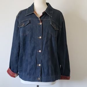 Chico's Dark Wash Denim Jacket Size 3